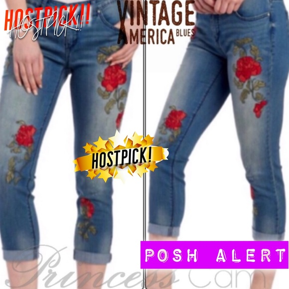 f9c010e70ae 🏆Vintage America Blues Embroidered Bestie Jeans